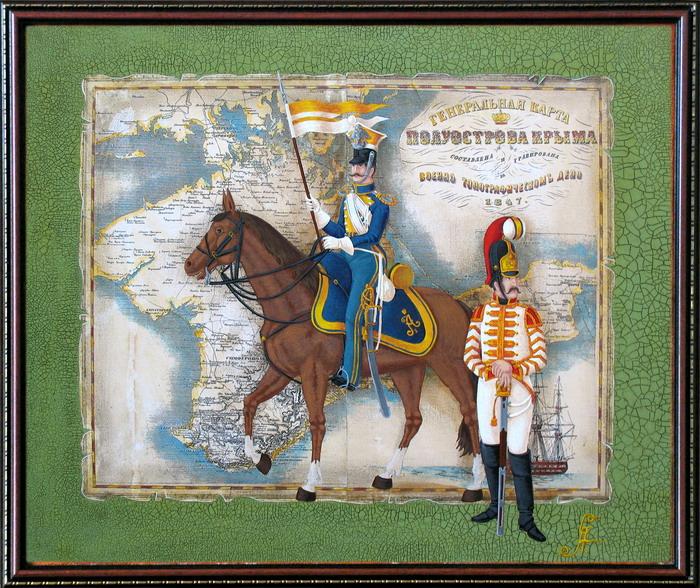 Улан вознесенского и штаб-трубач конного полков